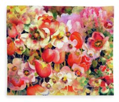 Belle Fleurs II Fleece Blanket