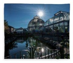 Belle Isle Conservatory Fleece Blanket