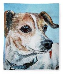 Beloved Puppy Dog Fleece Blanket
