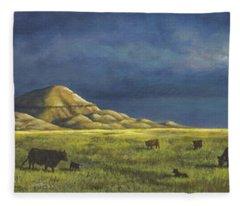 Belt Butte Spring Fleece Blanket