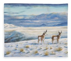 Belt Butte Winter Fleece Blanket