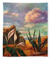 Beneath The Clouds Of Africa Fleece Blanket