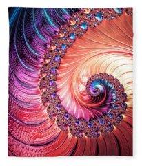 Beneath The Sea Spiral Fleece Blanket