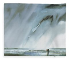 Beneath Turbulent Skies Fleece Blanket