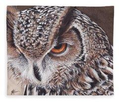 Bengal Eagle Owl Fleece Blanket
