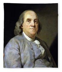 Benjamin Franklin Painting Fleece Blanket