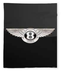 Bentley - 3 D Badge On Black Fleece Blanket
