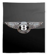 Bentley - 3d Badge On Black Fleece Blanket