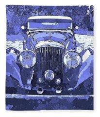 Bentley Blue Pop Art P2 Fleece Blanket