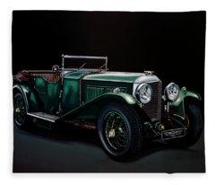 Bentley Open Tourer 1929 Painting Fleece Blanket