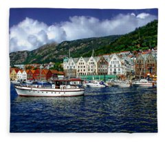 Bergen - Norway Fleece Blanket