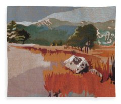Bergen Peak First Snow Fleece Blanket