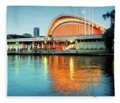 Berlin Architecture And Spree River Fleece Blanket