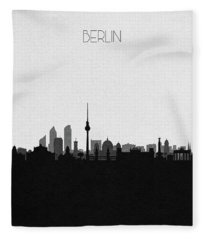 Berlin Cityscape Art Fleece Blanket