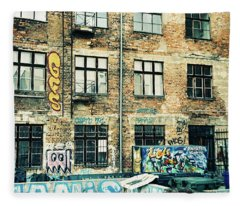 Berlin House Wall With Graffiti  Fleece Blanket