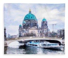 Berliner Dom Fleece Blanket