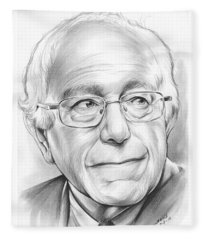 Bernie Sanders Fleece Blanket