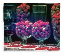 Berries In The Window Fleece Blanket