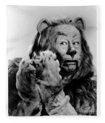 Bert Lahr As The Cowardly Lion In The Wizard Of Oz Fleece Blanket