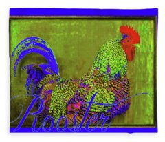 Bert The Rooster Fleece Blanket