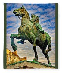 Bertrand Du Guesclin Fleece Blanket