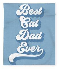 Best Cad Dad Ever Blue- Art By Linda Woods Fleece Blanket