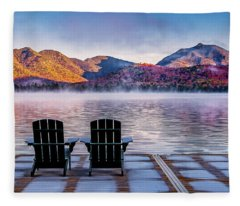 Best Seats In The Adirondacks Fleece Blanket