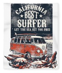 Best Surfer Fleece Blanket