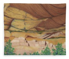 Betatakin Cliffdwellers Fleece Blanket