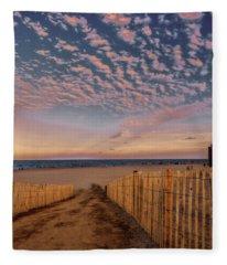 Bethany Beach At Twilight Fleece Blanket