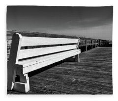 Bethany Beach Boardwalk Fleece Blanket