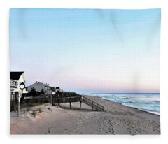 Bethany Beach Morning Fleece Blanket