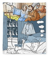 Nativity Selfie Fleece Blanket