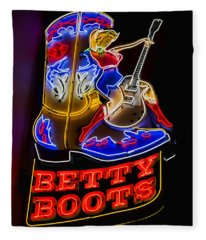 Betty Boots Fleece Blanket