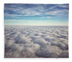 Between Heaven And Earth Fleece Blanket