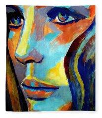 Between Herself And The World Fleece Blanket