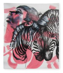 Between Stripes Fleece Blanket