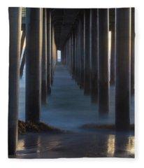 Between The Pillars  Fleece Blanket