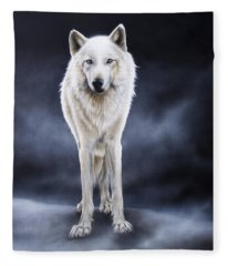 'between The White And The Black' Fleece Blanket