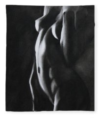 Between Worlds - Charcoal Fleece Blanket