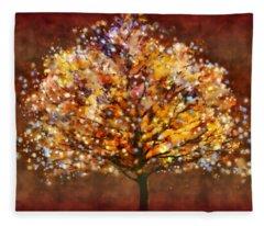 Starry Tree Fleece Blanket