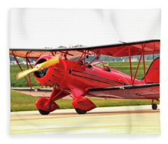 Bi Wing Plane Fleece Blanket