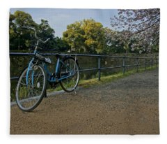 Bicycle And Tokyo Imperial Palace Fleece Blanket