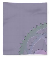 Bicycle Chain Ring - 1 Of 4 Fleece Blanket