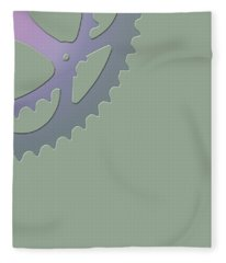 Bicycle Chain Ring - 4 Of 4 Fleece Blanket