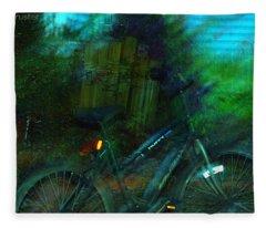 Bicycle Fleece Blanket