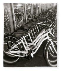 Bicycles In Belmont Shore Fleece Blanket