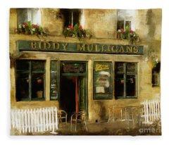 Biddy Mulligans Pub Fleece Blanket