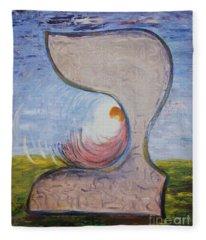 Biet - Meditation In Oil Fleece Blanket