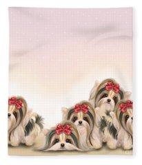 Biewer Pack Fleece Blanket